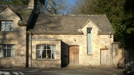 The exterior of Abbey Stores, nr Ripon, Yorkshire