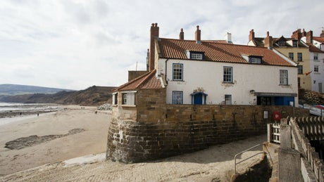 The exterior of Boatman's Loft, Robin Hoods Bay, Yorkshire