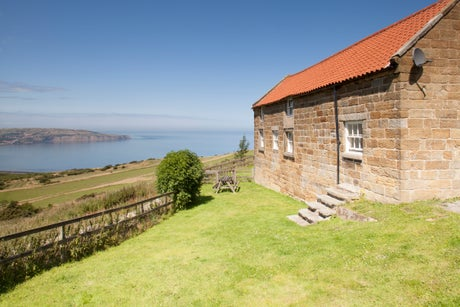 The exterior of Chapel Cottage, Ravenscar, Yorkshire