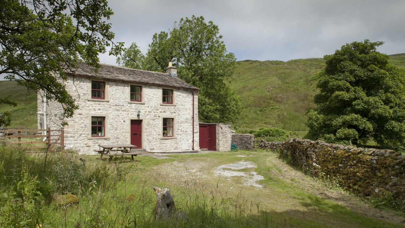 The exterior of Darnbrook Cottage, nr Settle, Yorkshire