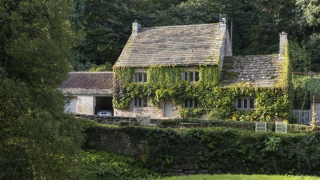 The exterior of Fountains Cottage, nr Ripon, Yorkshire