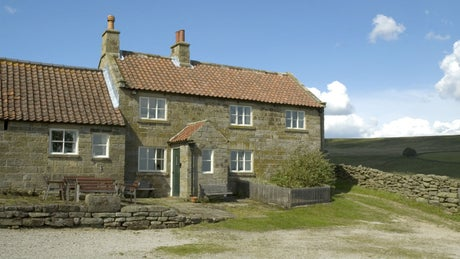 The exterior of High Lidmoor Farmhouse, Kirbymoorside, Yorkshire