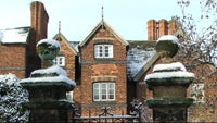 Moseley Old Hall in snow