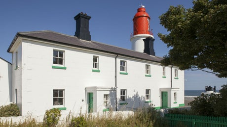 The exterior of Lighthouse Keeper's Cottages, Sunderland, Tyne and Wear