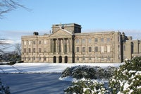 Lyme Hall in crisp white snow