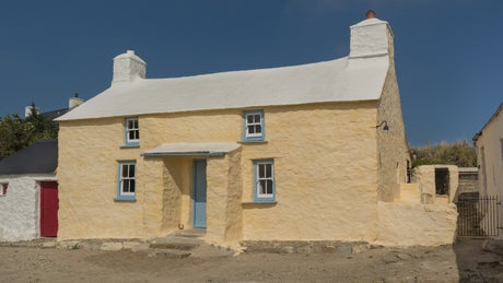 The exterior of Treleddyd Fawr Cottage, St. Davids, Pembrokeshire