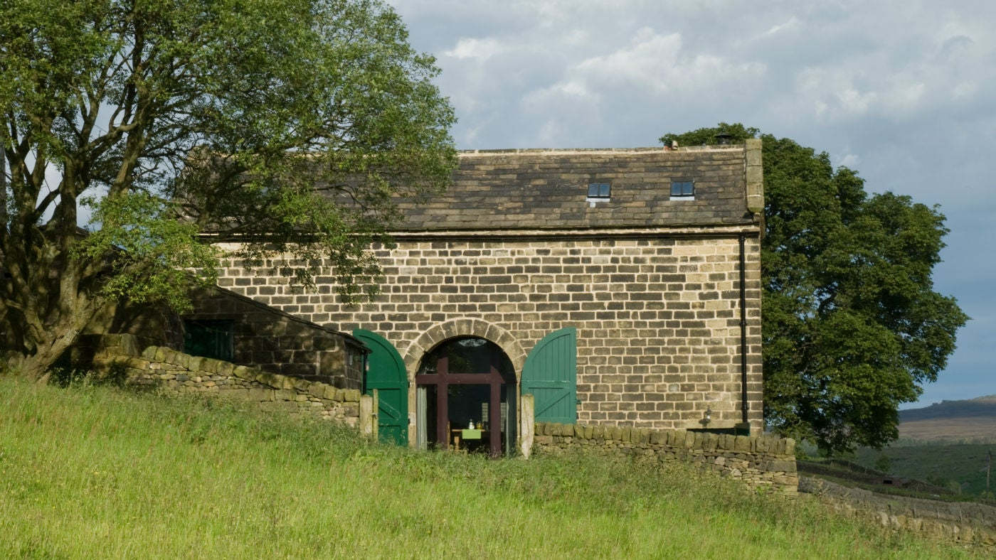 The exterior of Widdop Gate Barn, Hebden Bridge, Yorkshire