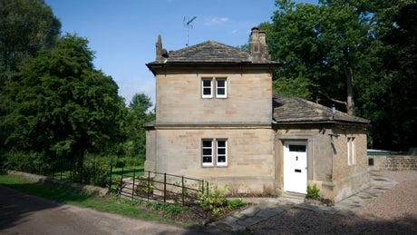 The exterior of Rowthorne Lodge, Hardwick Hall, nr Chesterfield, Derbyshire