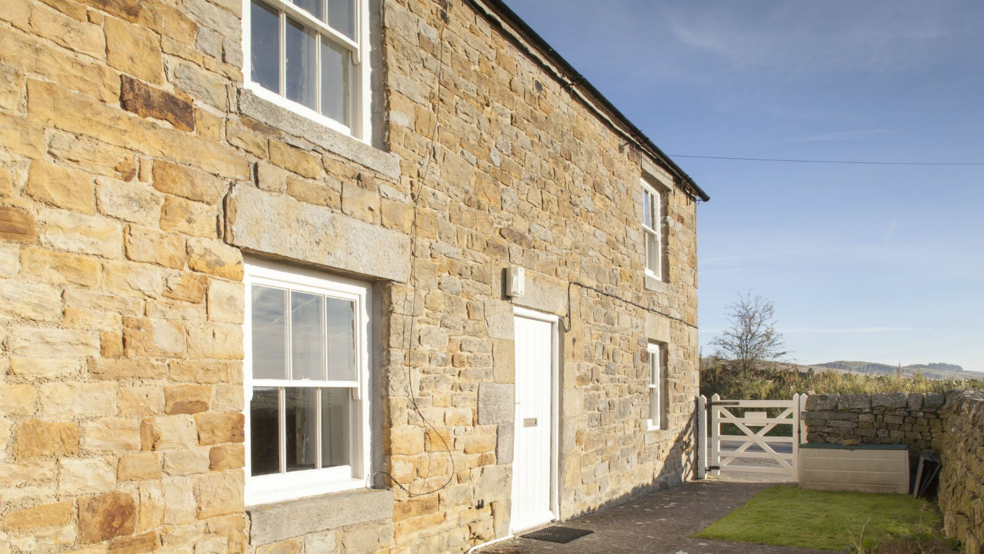 The exterior of Springwell Cottage, nr Hexham, Northumberland