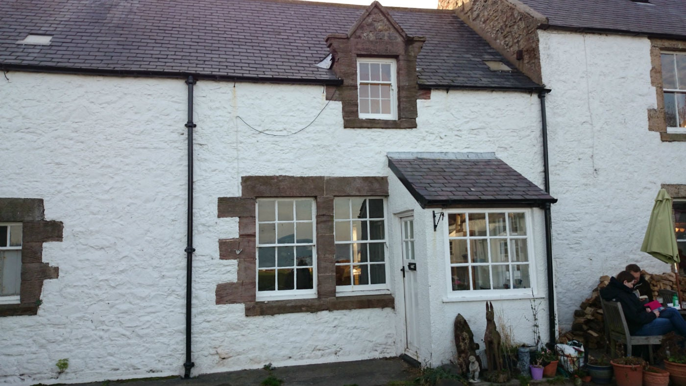 The exterior of Rockside Cottage, Alnwick, Northumberland