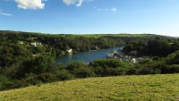 Looking down to Fowey from Station Woods