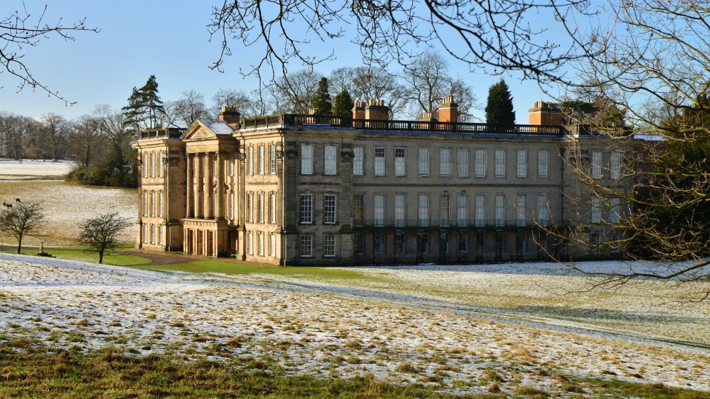 Winter at Calke Abbey in Derbyshire