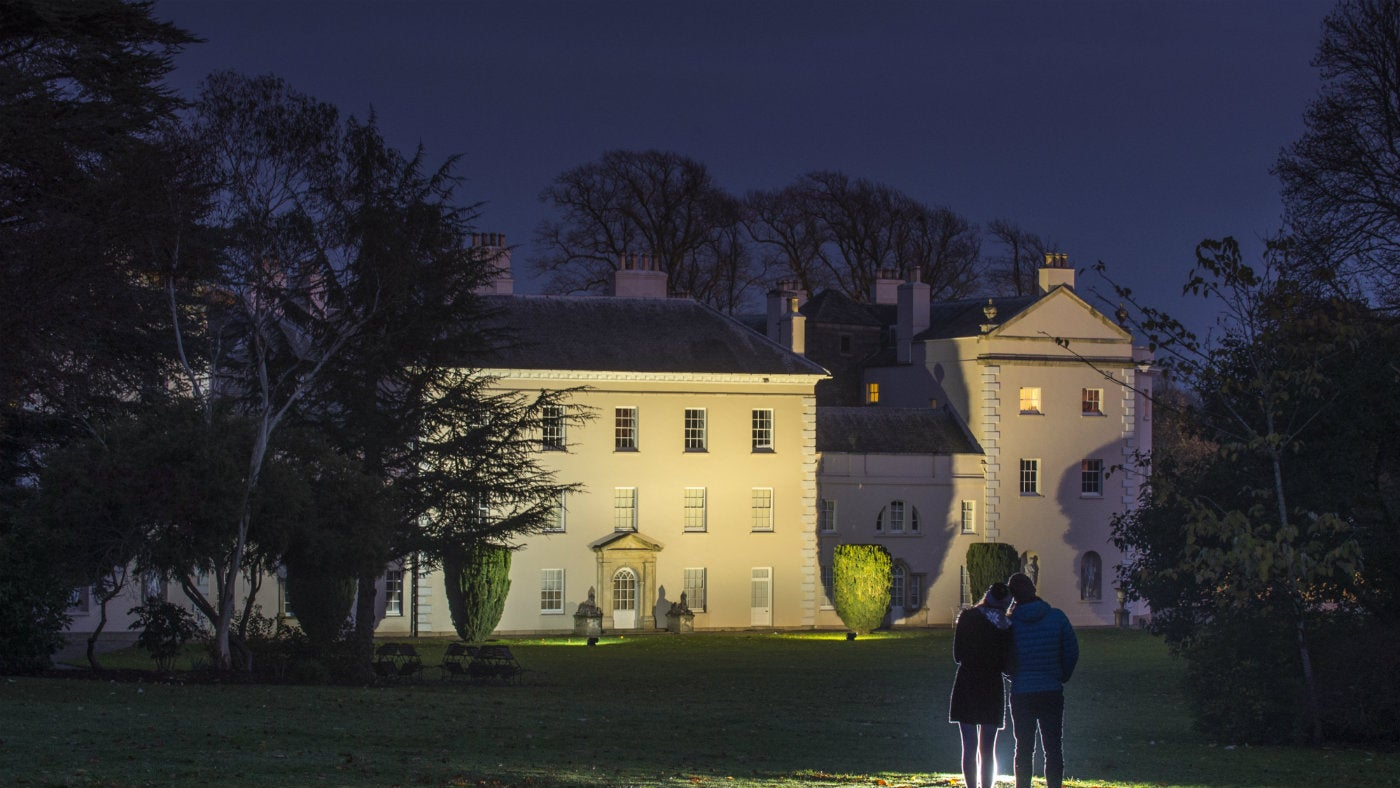 Saltram house lit for Christmas