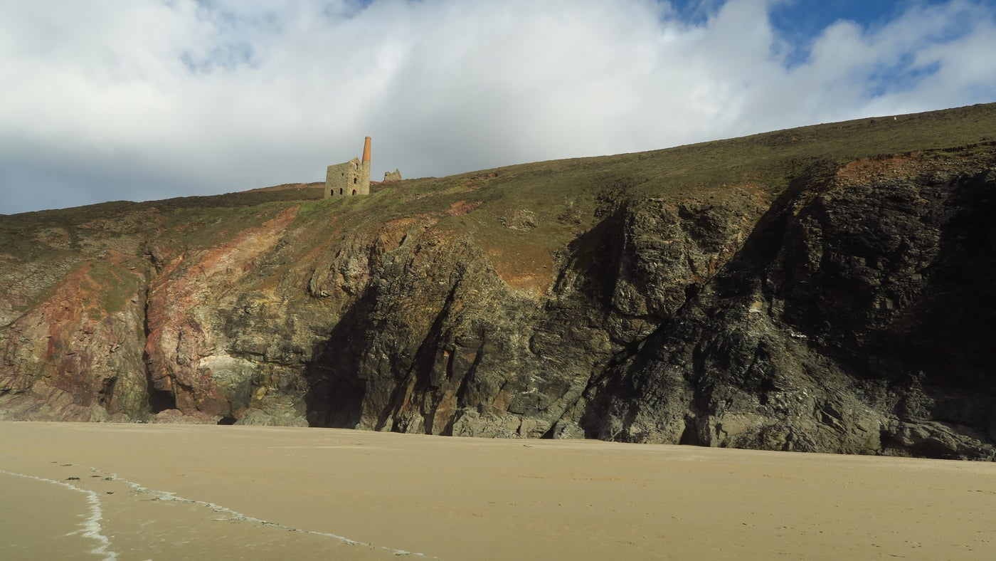 Wheal Coates from the beach