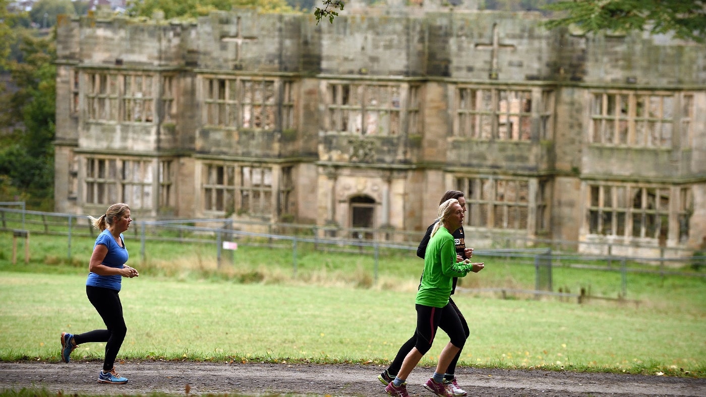 Runners at Gibside