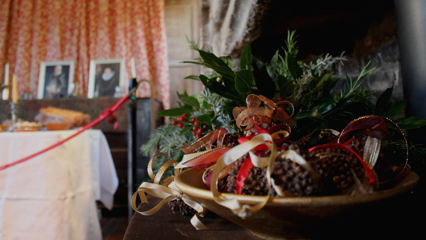 Tudor christmas in the cromwellian building national trust