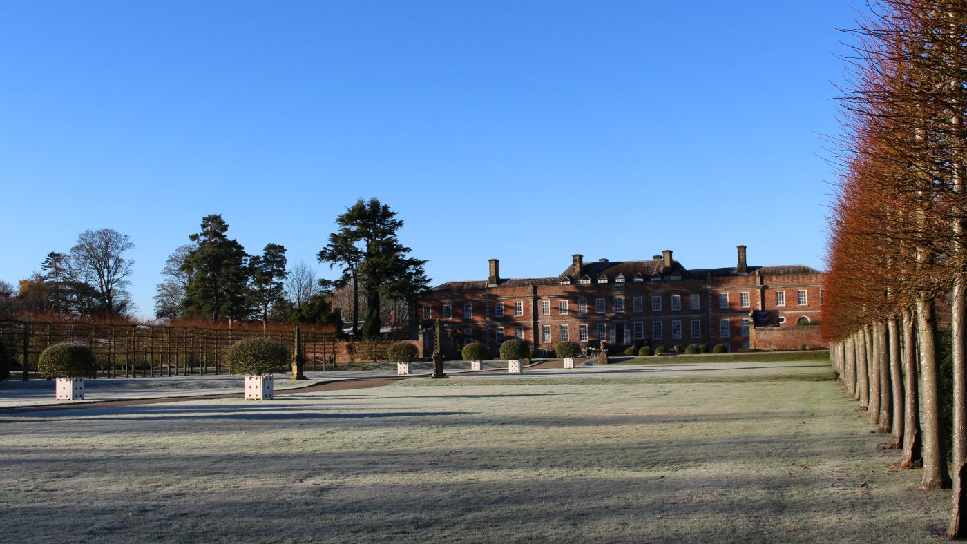 A frosty winter's day at Erddig