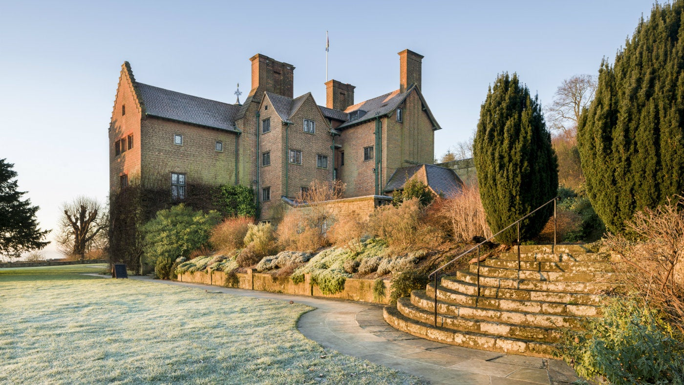 The house in January at Chartwell, a National Trust property in Kent