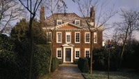 A cold but bright morning helps to light up the West Front of Fenton House, London