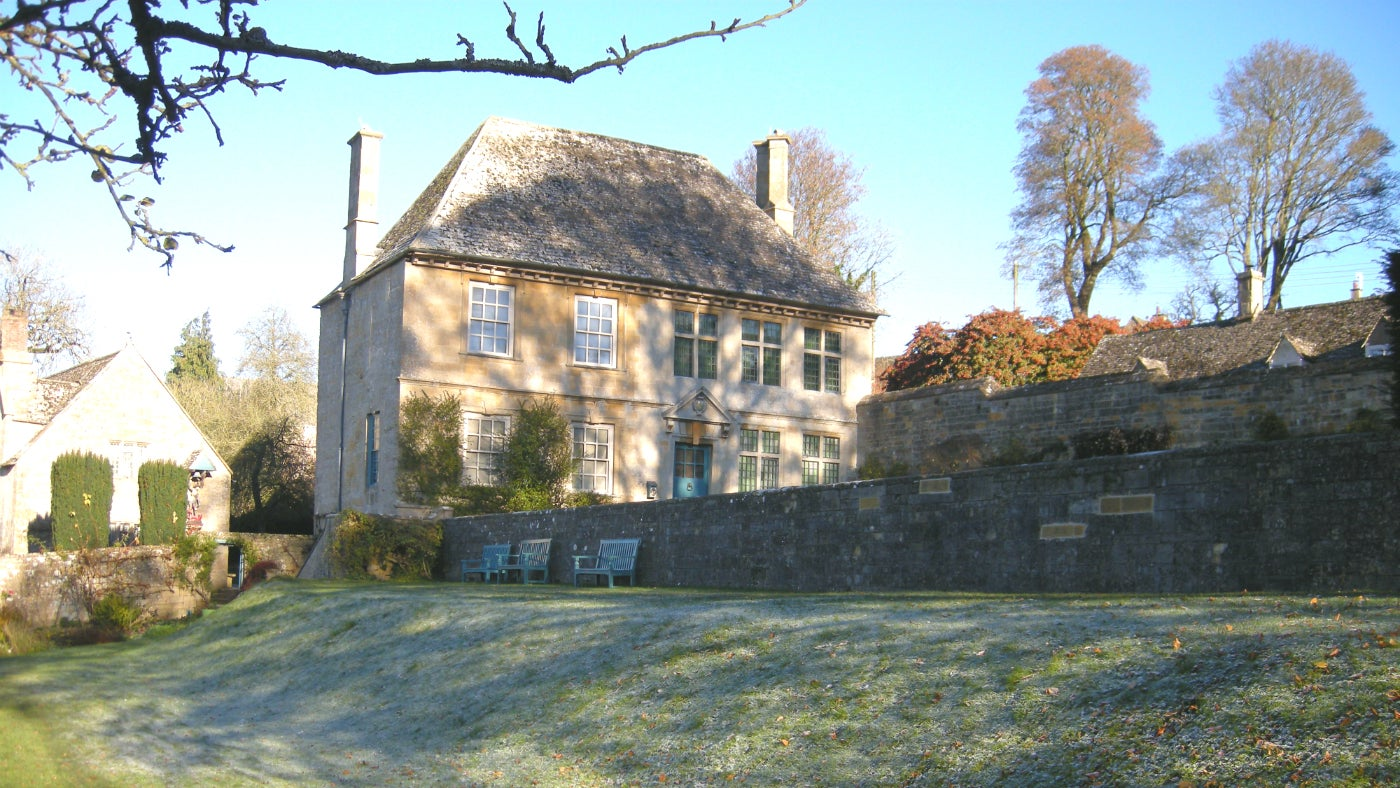 Snowshill Manor in winter