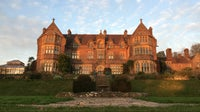 Knightshayes in the winter sunset from South terrace