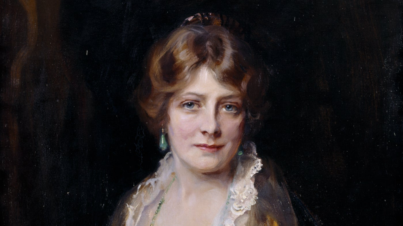 Portrait of The Hon. Nancy Beatrice Borwick, Lady Croft (1884-1949) by Philip Alexius de László de Lombos