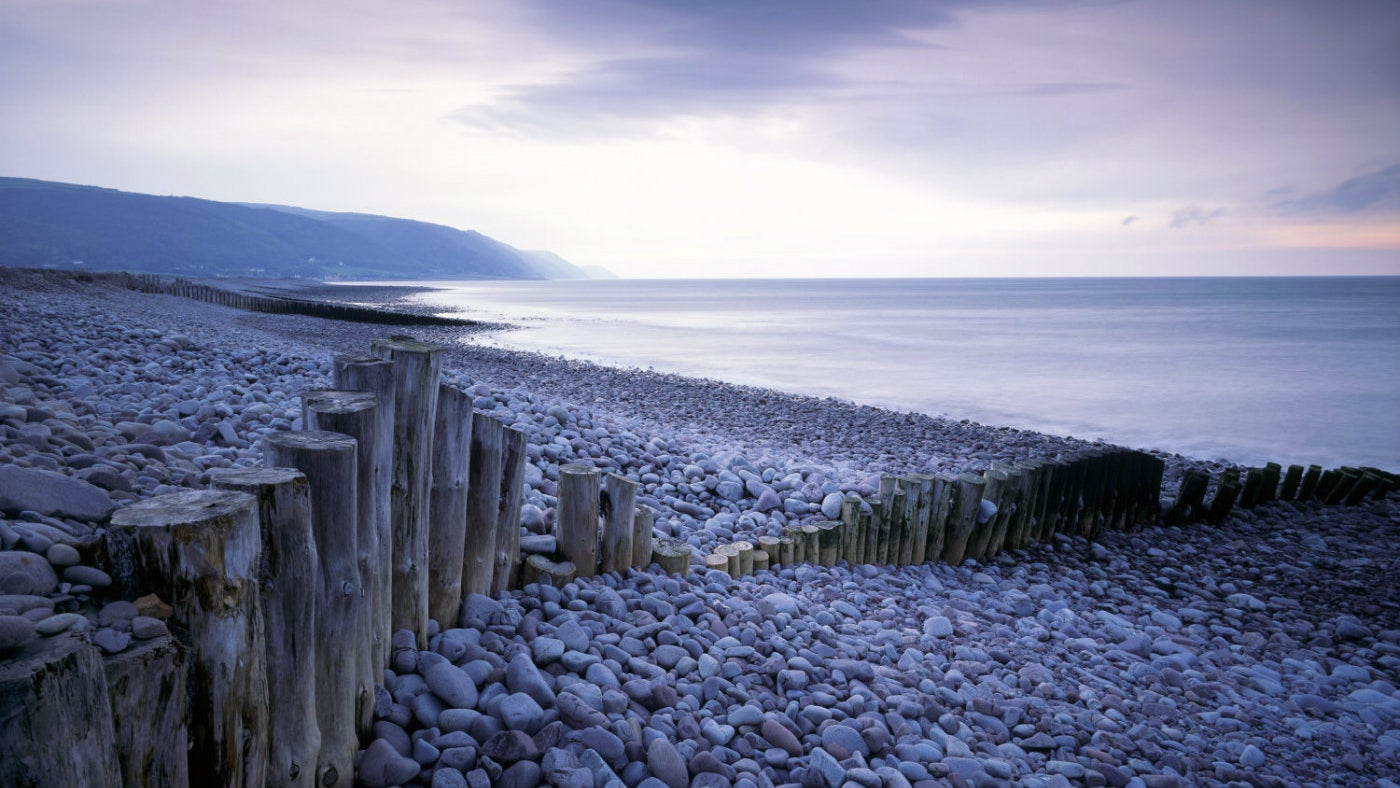 Early morning on Exmoor's coastline at Bossington Beach