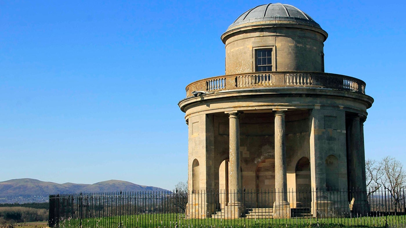 Croome Panorama tower blue sky