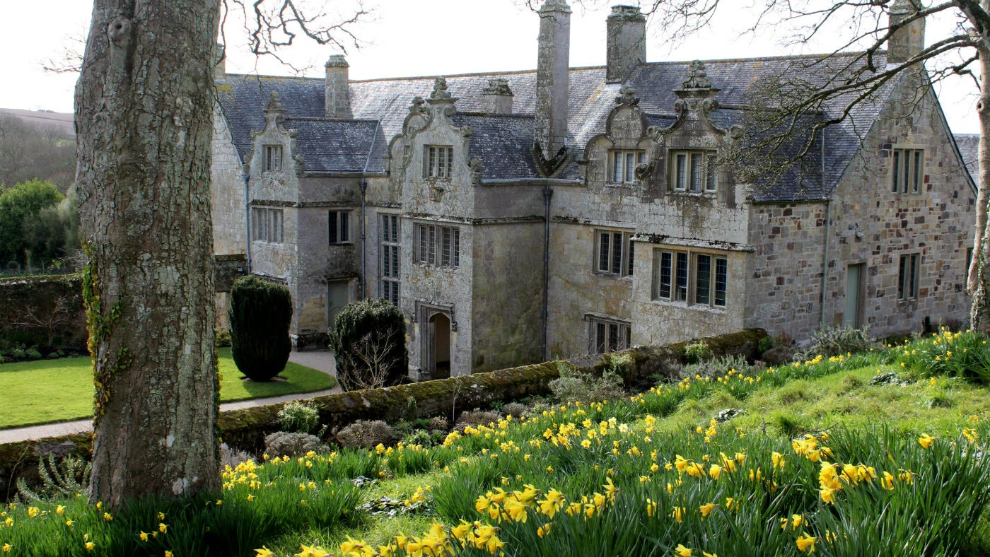 Looking at Trerice from the kayling lawn