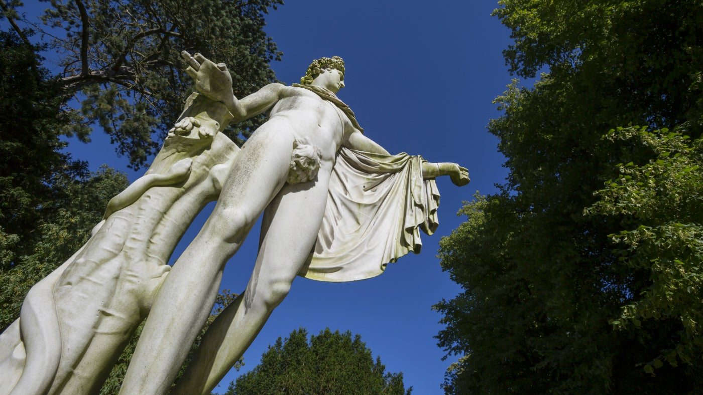 Apollo Belvedere sculpture in the grounds of Waddesdon Manor, a National Trust property in Buckinghamshire