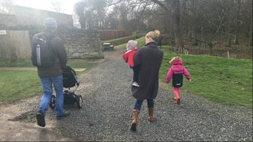 A family walk through Seaton Delaval Hall's woodland
