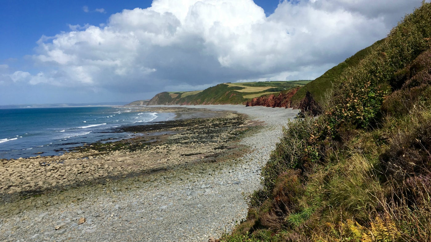 Peppercombe Valley beach view