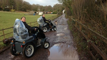 Two trampers on the bridlepath