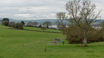 View towards the Exe estuary from Lower Halsdon's multi use pathway
