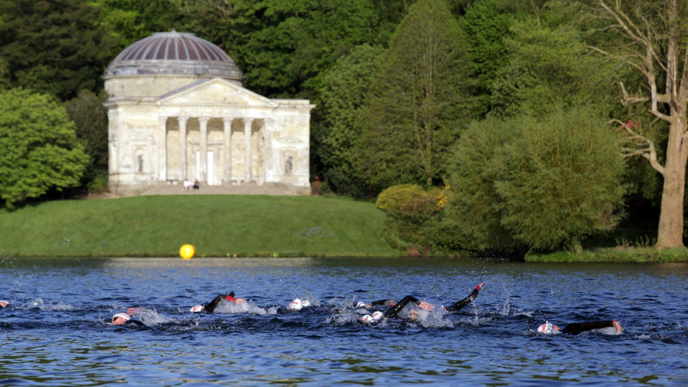 Athletes taking part in the Immortal Triathlon