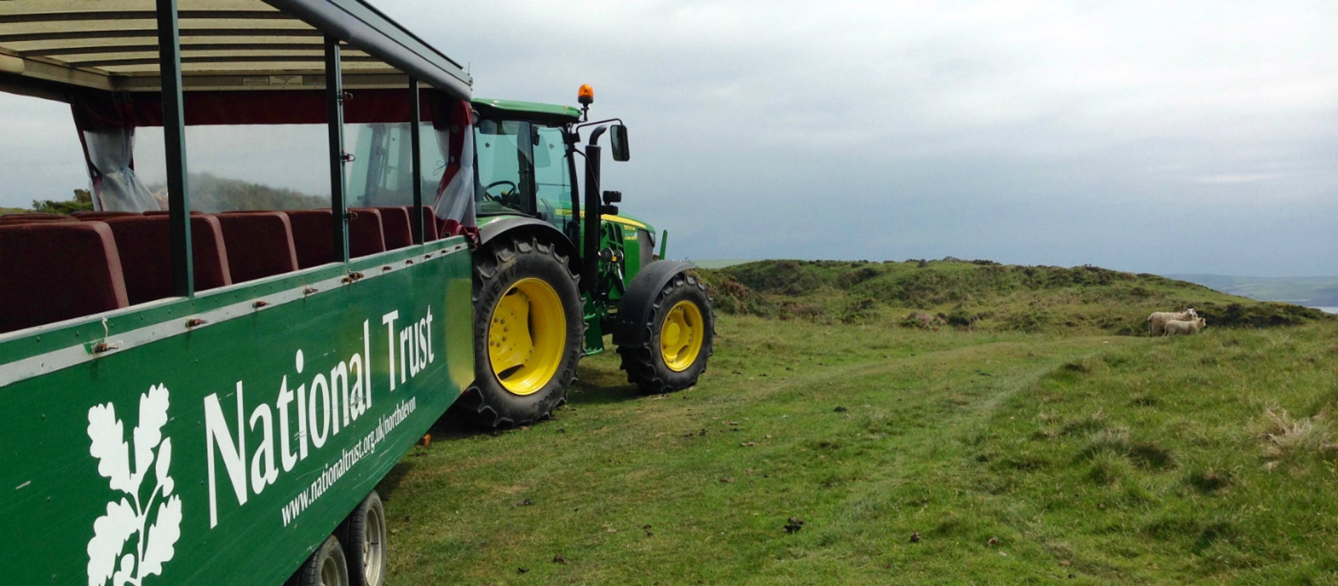 Tractor Trailer Rides At Mortehoe National Trust