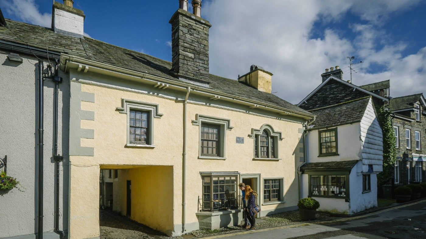 Exterior of the Beatrix Potter Gallery Hawkshead Cumbria