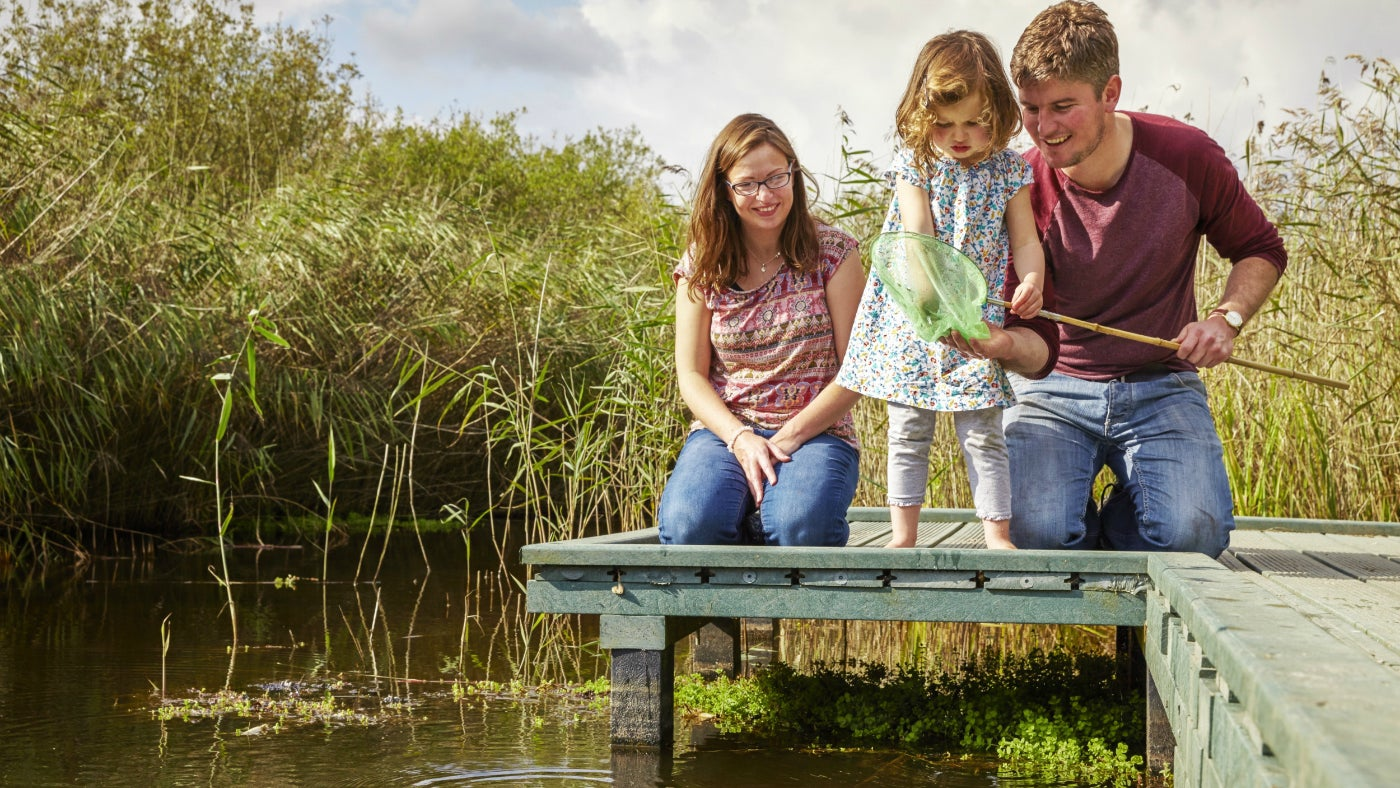 A family pond dipping