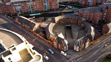 Roundhouse Birmingham aerial photography