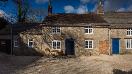 The exterior of Boar Mill cottage, Dorset