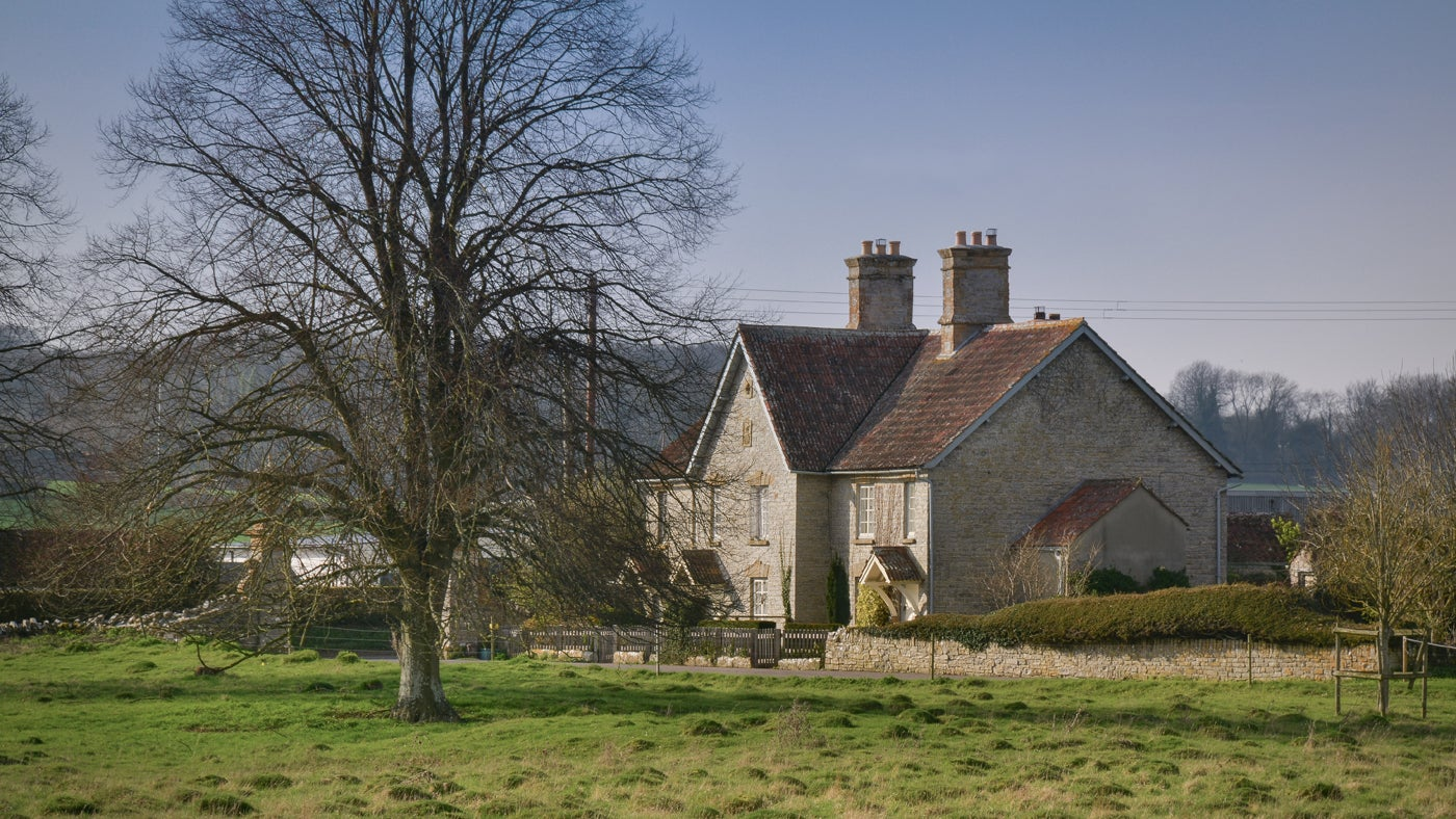 The exterior of 3 Lytes Cottage, Somerset