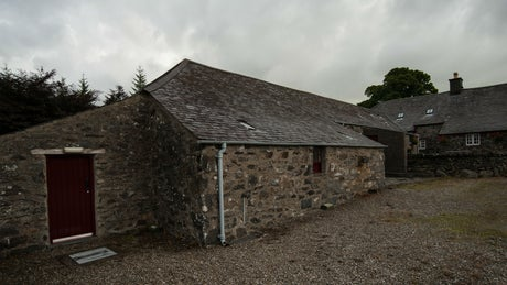The exterior of Hendre Isaf, Wales