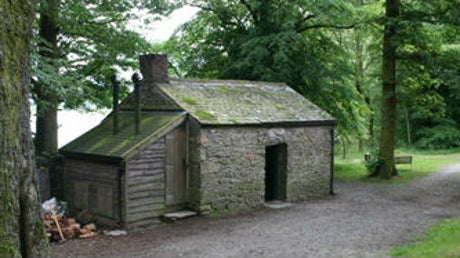 The exterior of Holme Wood Bothy, Loweswater, The Lake District