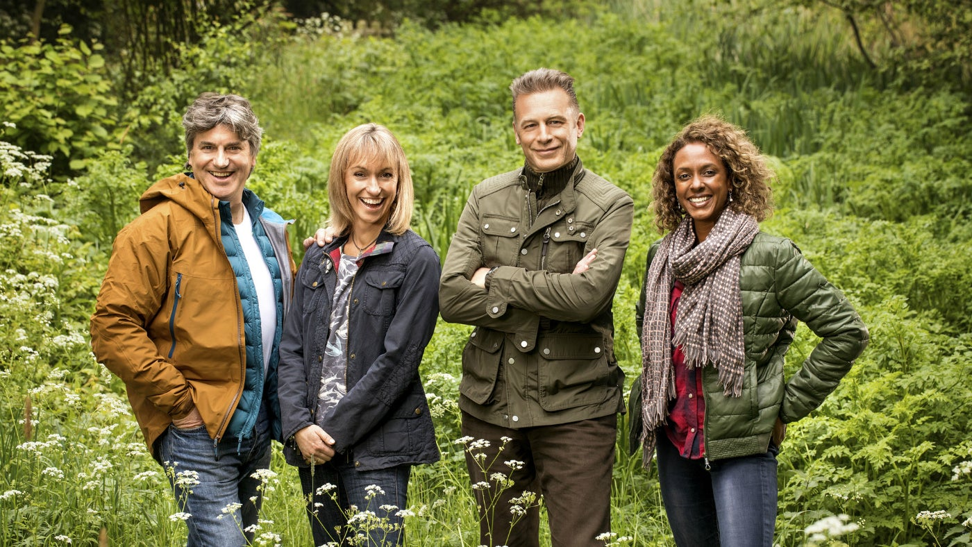 Martin Hughes-Games, Michaela Strachan, Chris Packham and Gillian Burke