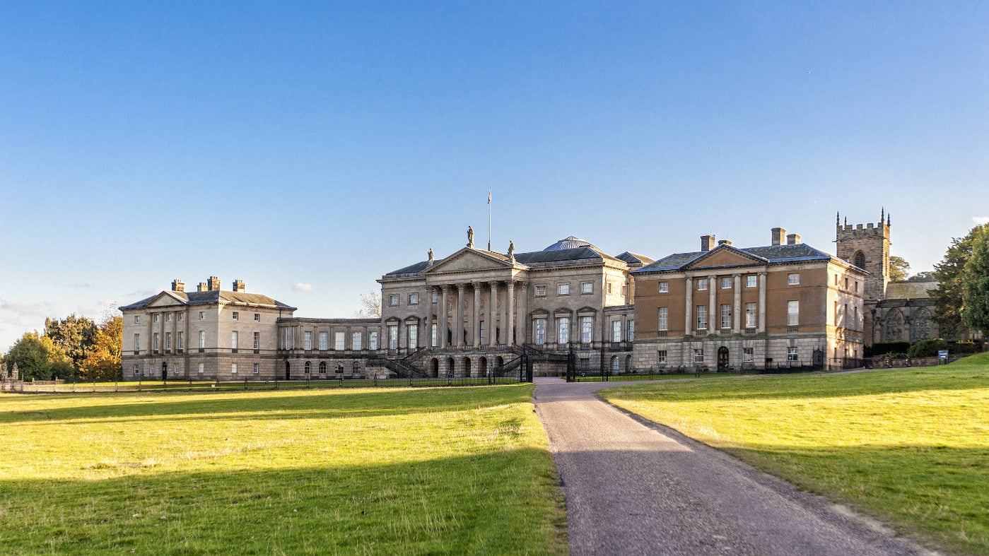 an exterior shot of the kedleston in the sunshine