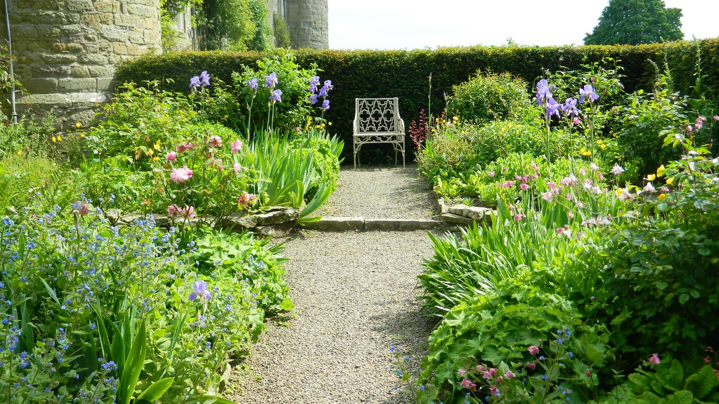The secret garden in late spring at Croft Castle in Herefordshire