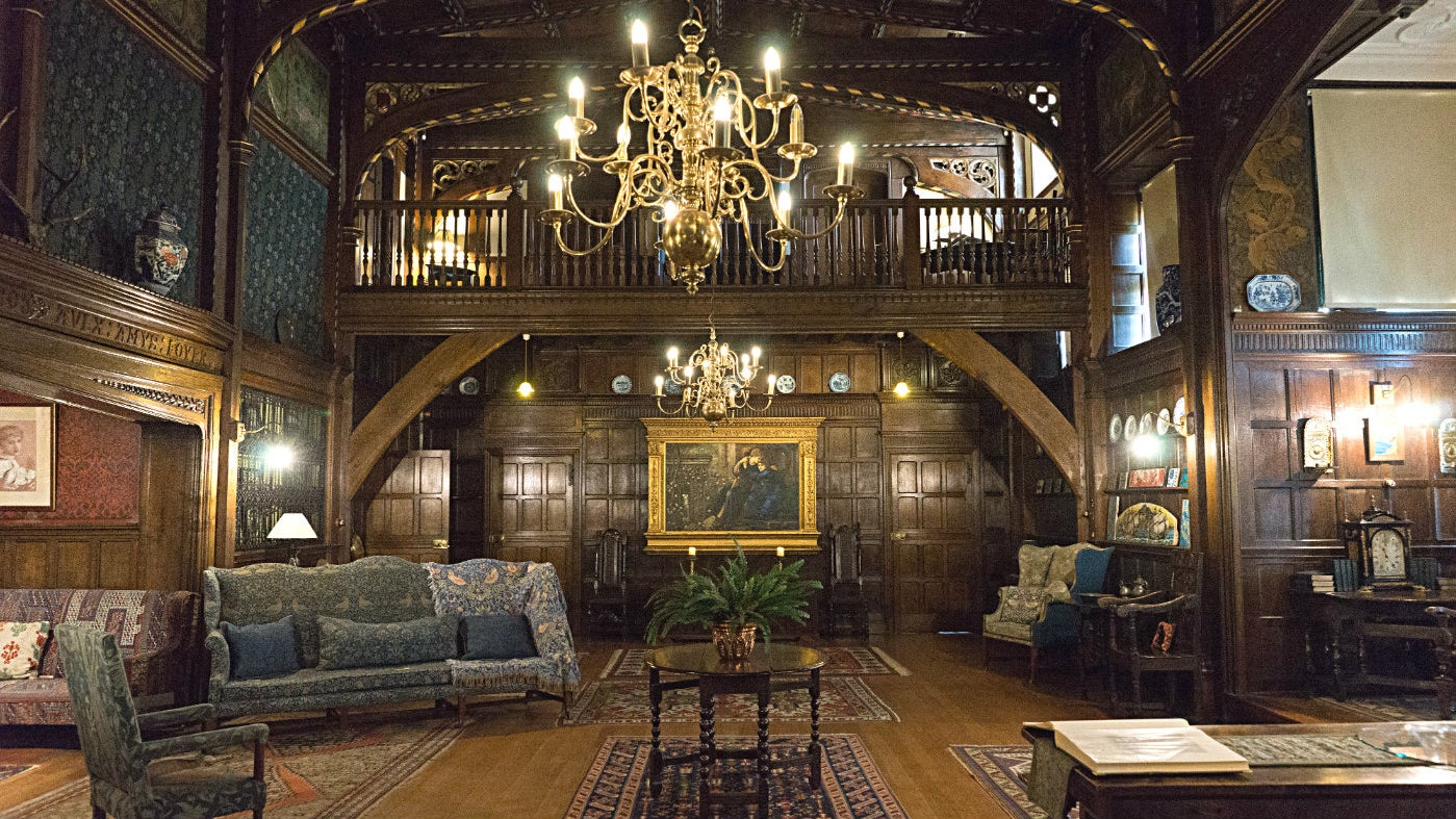 The Great Parlour Wightwick Manor with an impressive interior