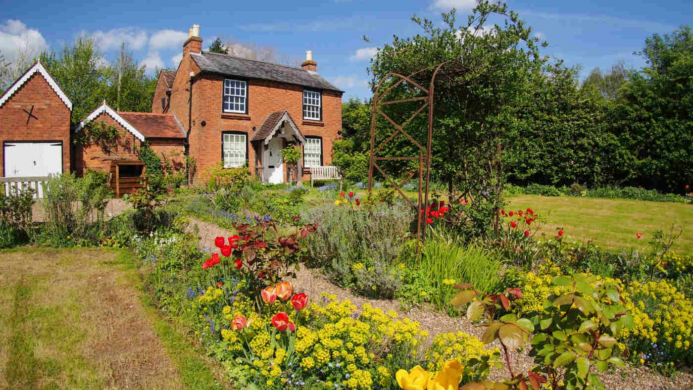 image of the cottage garden in spring
