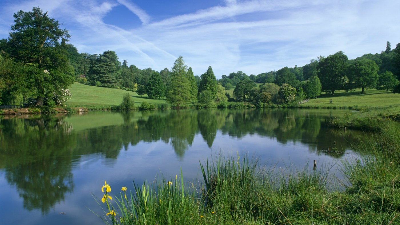 The lakes at Chartwell, a National Trust property in Kent