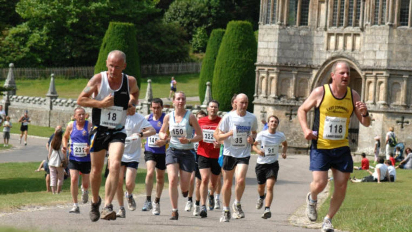 Runners on the Lanhydrock 10
